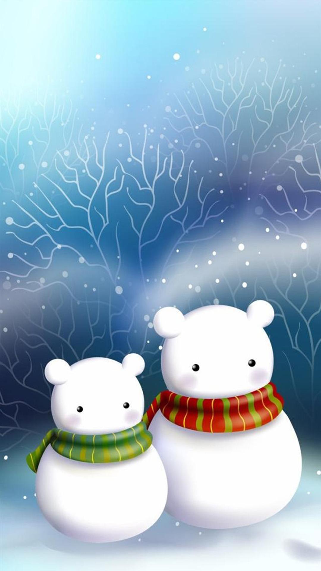 christmas 12 - 50 ảnh nền Giáng Sinh cực dễ thương cho điện thoại