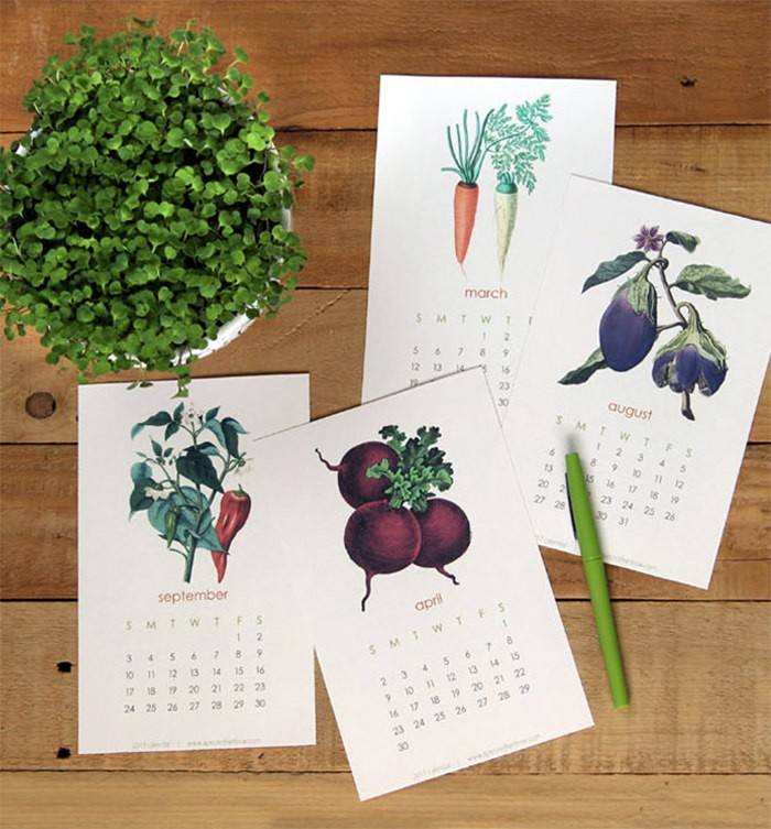 free 2017 vegetarian - Mời bạn tải về trọn bộ 20 bộ lịch in mới cho năm 2017