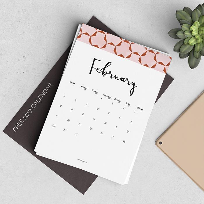 new 2017 calendar - Mời bạn tải về trọn bộ 20 bộ lịch in mới cho năm 2017