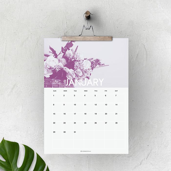 new botanical 2017 calendar - Mời bạn tải về trọn bộ 20 bộ lịch in mới cho năm 2017