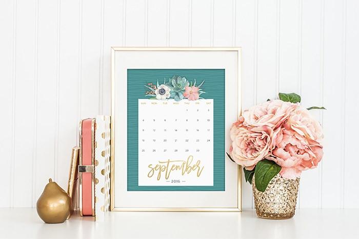 printables calendar of floral 2017 - Mời bạn tải về trọn bộ 20 bộ lịch in mới cho năm 2017