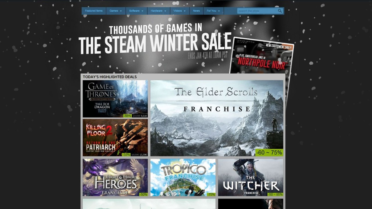 """steam winter sale live major price cuts offered until january 4 497991 2 - Steam Winter công bố ngày sale """"sập ví"""""""