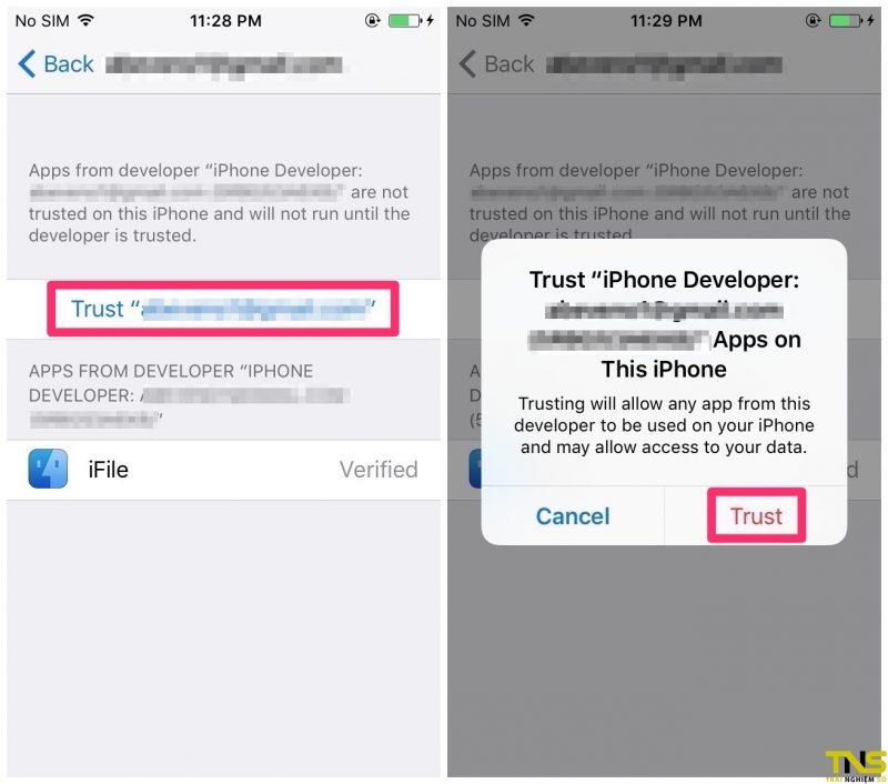 Hướng dẫn cài iFile cho iPhone chưa jailbreak