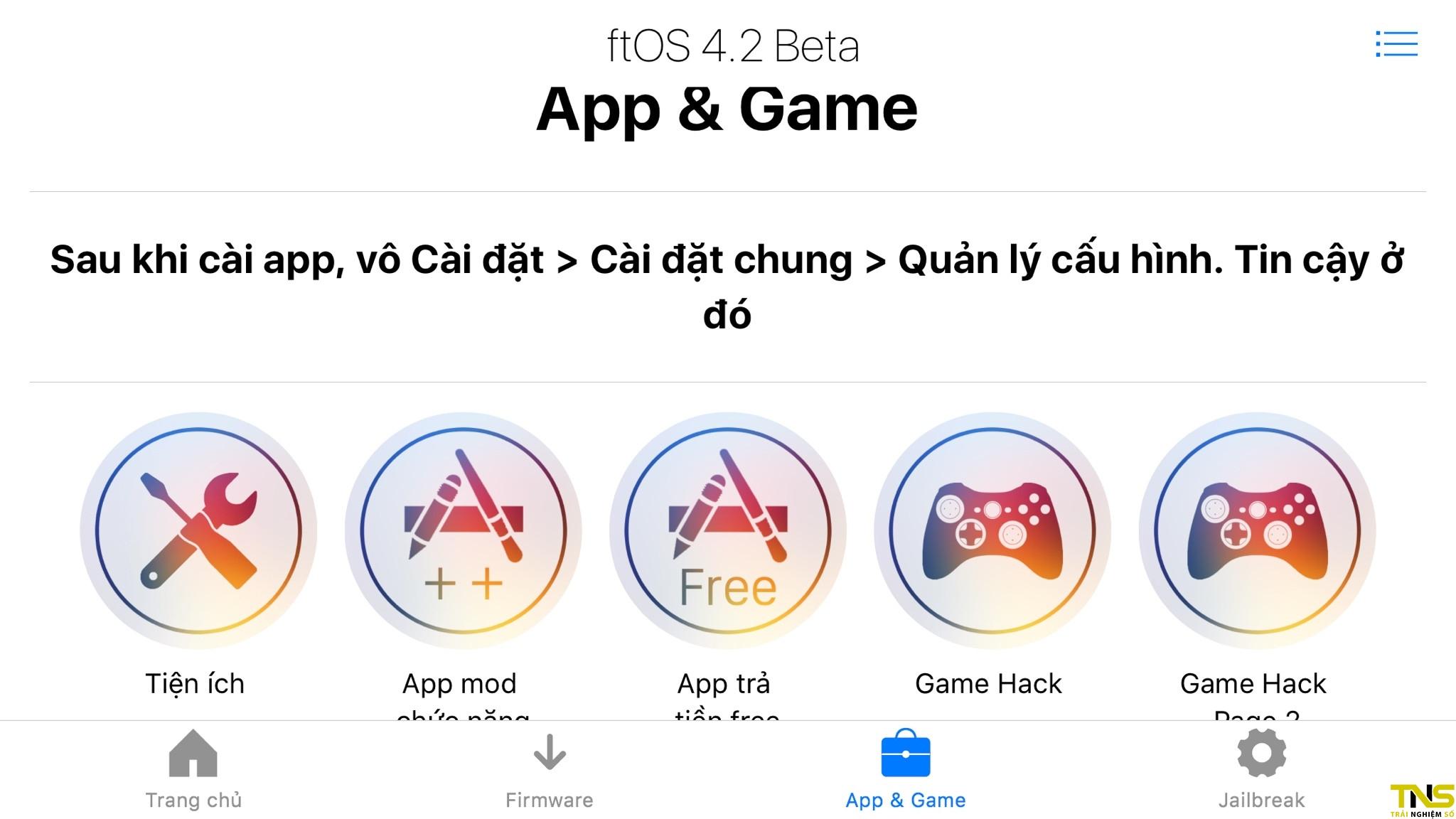 Hướng dẫn sử dụng ftOS để cài đặt game, ứng dụng bản quyền