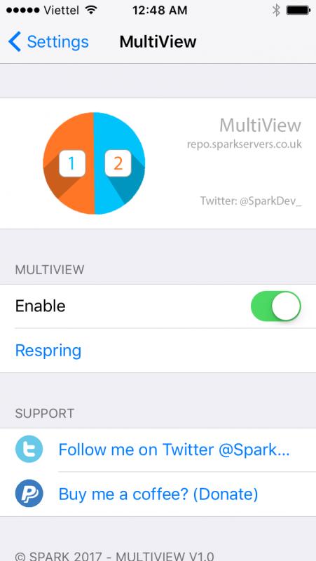 Hướng dẫn chia đôi màn hình iPhone chạy iOS 10, chạy song song hai