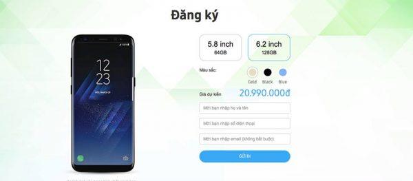 Galaxy S8 giá bao nhiêu