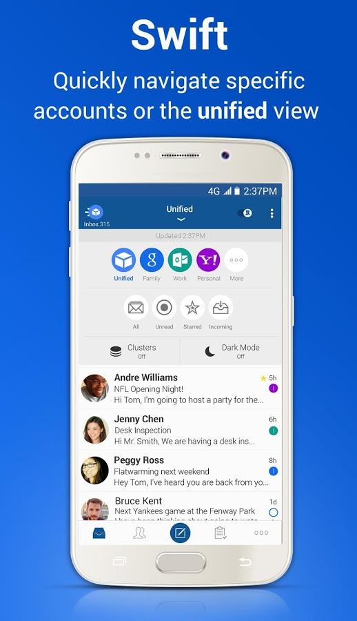 Blue Mail - Tổng hợp 5 ứng dụng hay và miễn phí trên Android ngày 06.03.2017