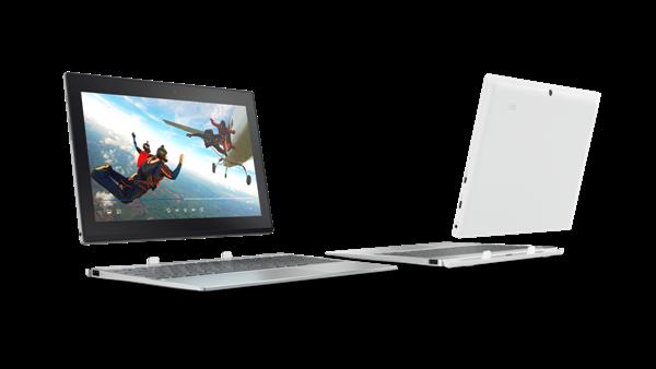 Miix320 silverandwhite - MWC 2017: Lenovo Miix 320 có thể tháo rời với lựa chọn LTE siêu nhanh