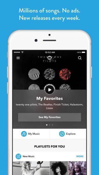Napster for ios 338x600 - Tổng hợp 10 ứng dụng hay và miễn phí trên iOS ngày 13.3.2017