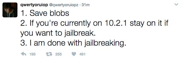 Screen Shot 2017 03 28 at 12.47.53 AM - iOS 10.2.1 đã được jailbreak thành công