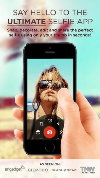 Selfie Cam App for ios 338x600 - Tổng hợp 10 ứng dụng hay và miễn phí trên iOS ngày 13.3.2017
