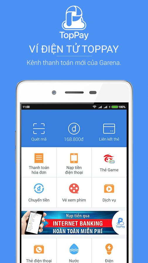 Ví điện tử TopPay - Tổng hợp 8 ứng dụng hay và miễn phí trên Android ngày 11.03.2017