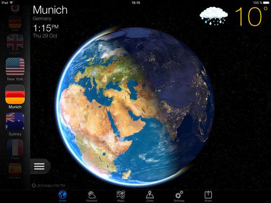 Weather Now for ios - Tổng hợp 20 ứng dụng hay và miễn phí trên iOS ngày 28.3.2017