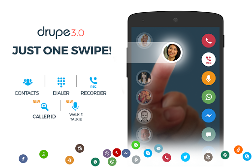 drupe 3 android - Tổng hợp 11 ứng dụng hay và miễn phí trên Android ngày 24.3.2017