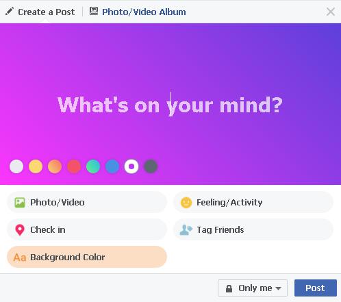 image003 2 - Facebook trên web đã cho phép đặt màu nền, xem bài đăng dạng thẻ