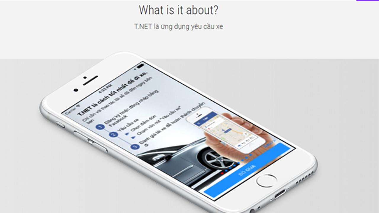 t.net UNG DUNG GOI XE - T.NET - Ứng dụng gọi xe thông minh giá rẻ
