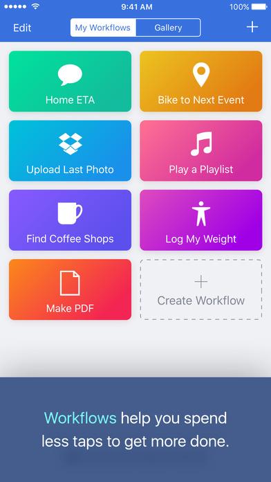 workflow ios - Tổng hợp 18 ứng dụng hay và miễn phí trên iOS ngày 1.4.2017