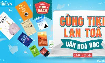 """Cung Tiki lan toa Van hoa doc 400x240 - Tiki.vn phát động chương trình """"Cùng Tiki lan tỏa văn hóa đọc"""" trong suốt tháng 4"""