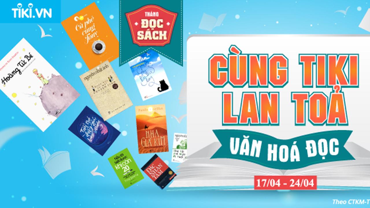 """Tiki.vn phát động chương trình """"Cùng Tiki lan tỏa văn hóa đọc"""" trong suốt tháng 4 18"""
