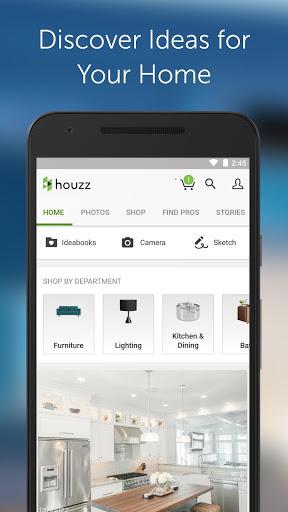 Houzz for android - Tổng hợp 10 ứng dụng hay và miễn phí trên Android ngày 22.4.2017