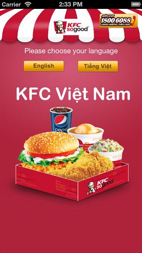 KFC Vietnam for android - Tổng hợp 5 ứng dụng hay và miễn phí trên Android ngày 07.4.2017