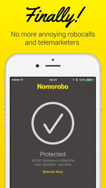 Nomorobo for ios 338x600 - Tổng hợp 27 ứng dụng hay và miễn phí trên iOS ngày 15.4.2017 (phần 2)