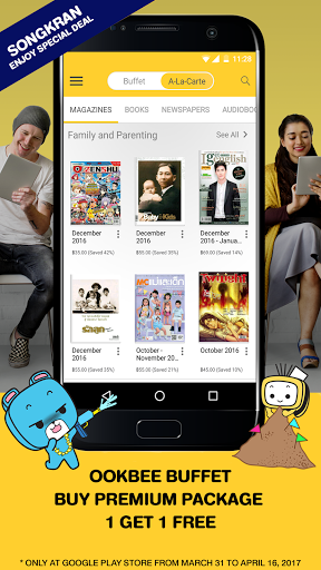 Ookbee for android - Tổng hợp 5 ứng dụng hay và miễn phí trên Android ngày 11.4.2017