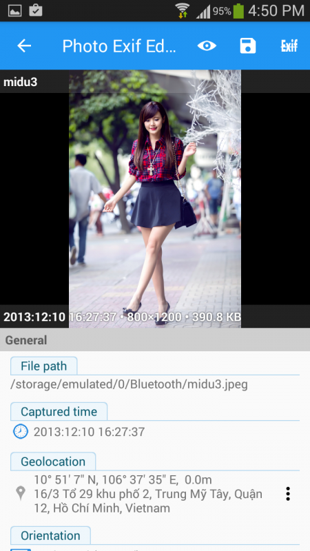 Cách thay đổi thời gian chụp và vị trí được lưu trong bức ảnh trên Android 2