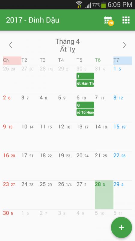 Screenshot 2017 04 28 18 05 27 450x800 - Xem lịch gọn nhẹ, không quảng cáo với Âm Lịch