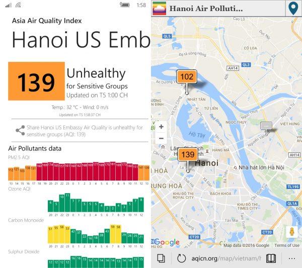 aaq3 600x533 - Kiểm tra chất lượng không khí môi trường bằng điện thoại