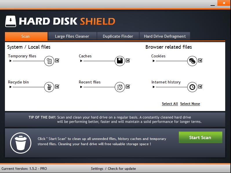 hard disk shield 1 - Ứng dụng dọn dẹp đĩa cứng máy tính trị giá 39,99USD đang miễn phí
