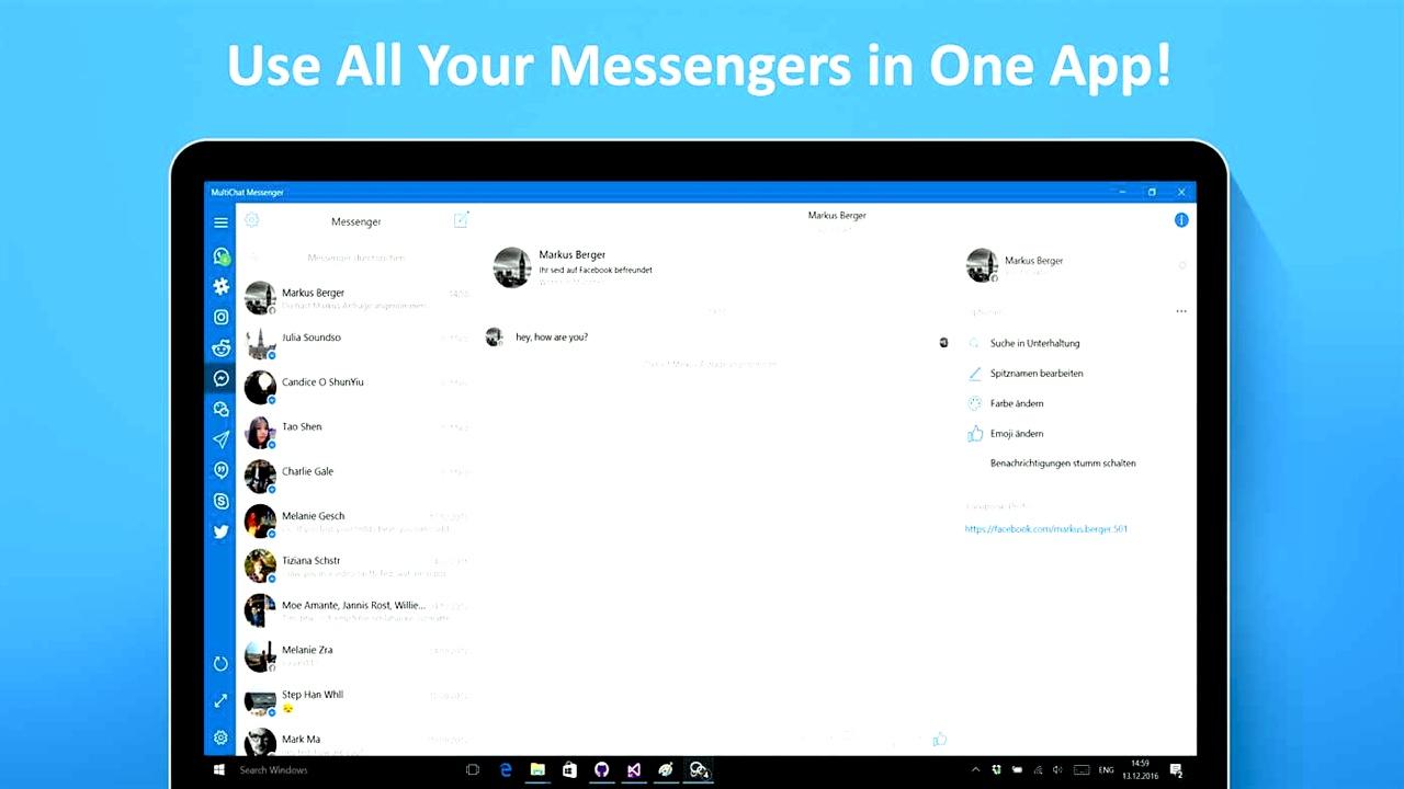 Dùng cùng lúc 10 dịch vụ chat thông dụng, hỗ trợ Messenger, Skype