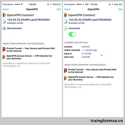 openvpn 4 - Cách tìm và dùng VPN miễn phí trên iOS, hỗ trợ nhiều quốc gia