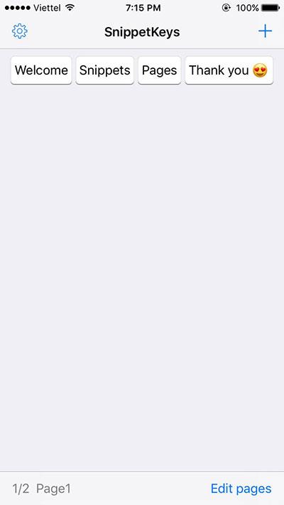 snippetkeys 01 - SnippetKeys: Bàn phím gõ tắt cực nhanh cho iOS