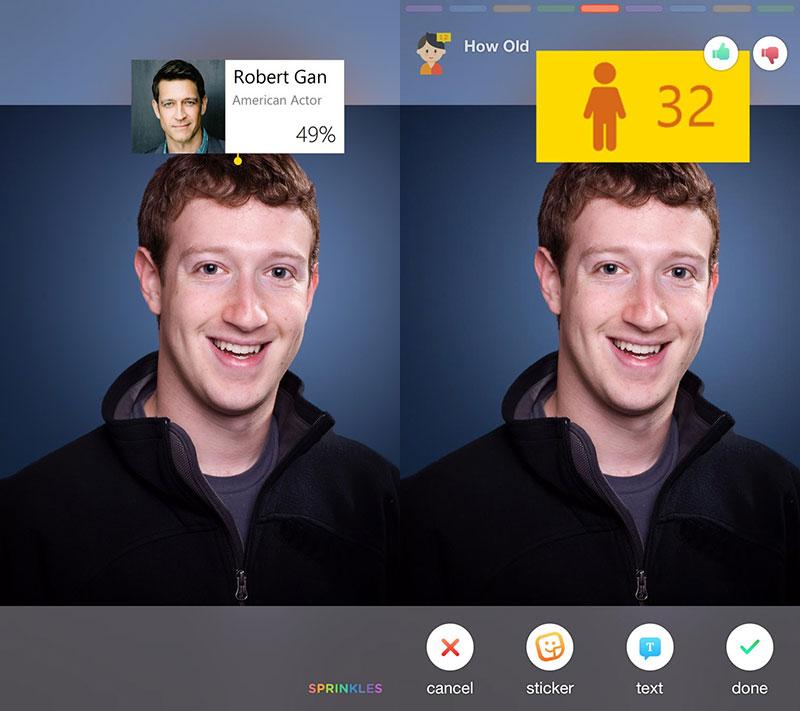 "sprinkles 05 - Microsoft Sprinkles: Xử lý ảnh ""n trong 1"" - Thêm text, sticker, đoán tuổi,…"
