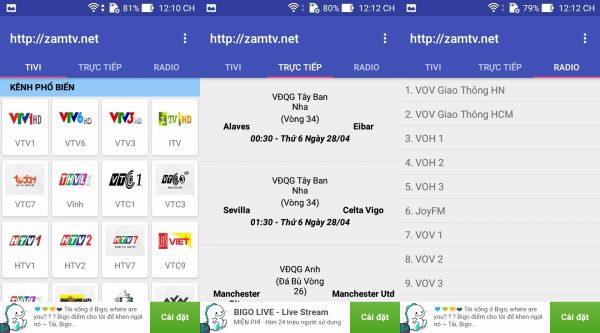 tv online 1 600x333 - Phần mềm xem tivi trên điện thoại Android dễ dàng và miễn phí
