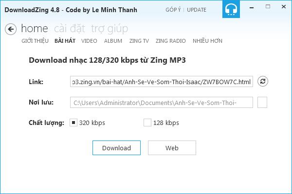 Tải nhạc, video chất lượng cao tại Zing MP3, NhacCuaTui quá dễ 2