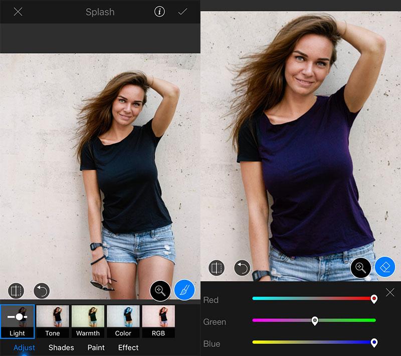 lightx splash - LightX: Sửa ảnh chuyên nghiệp trên iOS