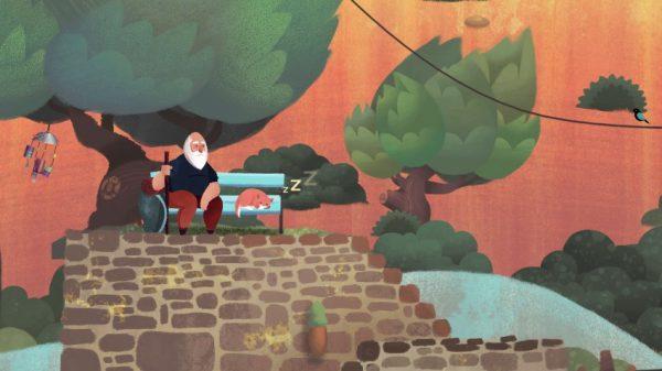 old mans journey screenshot 4 600x337 - Đánh giá Old Man's Journey - game giải đố point-and-click độc và lạ
