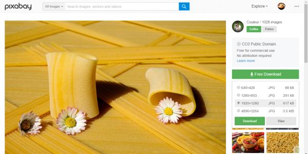 Thêm một trang tìm ảnh chất lượng cao, có tool hỗ trợ tải về 3