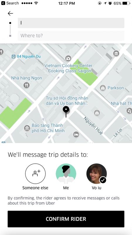 IMG 2194 450x800 - Cách đặt xe Uber cho người thân của mình
