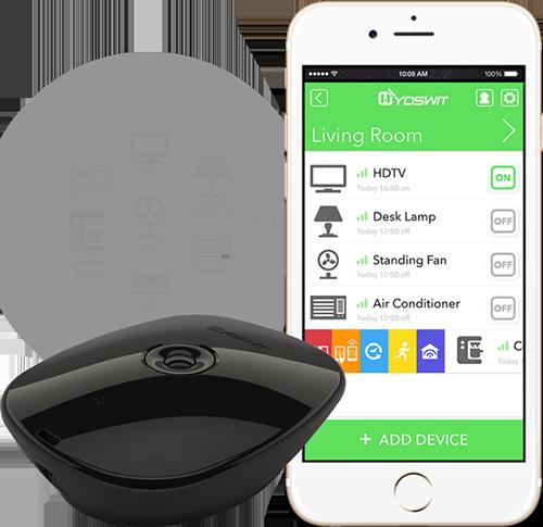IRHub app - Yoswit: Bộ đầu thu giúp biến căn hộ trở nên thông minh hơn