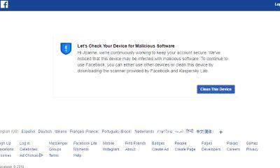 facebook nhiem phan mem doc hai featured 400x240 - Làm sao xử lý khi Facebook báo máy bị nhiễm phần mềm độc hại (malware)?