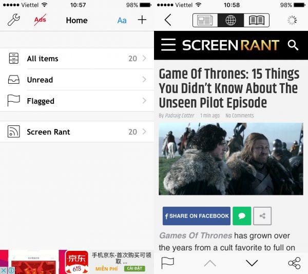 free rss reader 600x533 - 4 ứng dụng đọc tin tức RSS trên iPhone cực hay