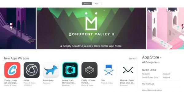 Monument Valley 2 appstore screenshot