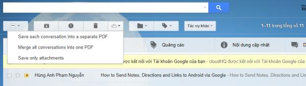 Cách lưu dữ liệu trên Gmail vào máy tính, OneDrive, PDF,...