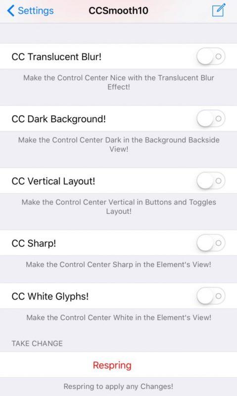 """CCSmooth10 479x800 - Cách """"mod"""" lại giao diện Control Center trên iOS 10"""
