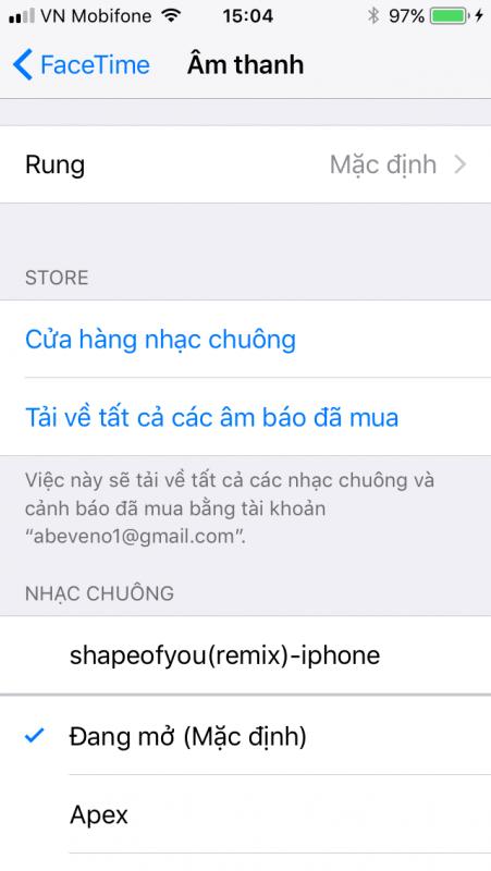 IMG 0227 451x800 - Cách đổi nhạc chuông FaceTime để không trùng chuông điện thoại