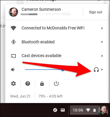 chromebook audio output 2 - Cách chuyển đổi đường xuất tín hiệu âm thanh trên Chromebook