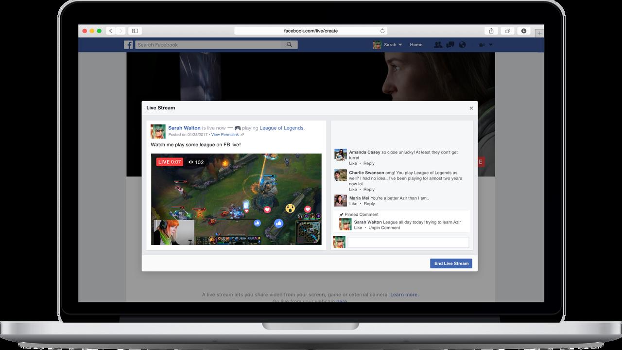 Cách Live stream màn hình chơi game lên Facebook từ Android và iOS